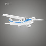 Small plane vector illustration. Single engine propelled aircraft. Vector illustration. Small plane vector illustration. Single engine propelled aircraft Stock Photo