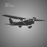 Small plane vector illustration. Single engine propelled aircraft. Vector illustration. Icon Royalty Free Stock Photo