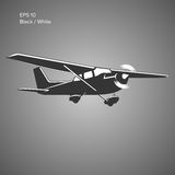 Small plane vector illustration. Single engine propelled aircraft. Vector illustration. Icon Stock Photography