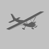 Small plane vector illustration. Single engine propelled aircraft. Vector illustration. Icon. Small plane vector illustration. Single engine propelled aircraft Stock Photo