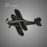 Small plane vector illustration. Single engine propelled biplane aircraft. Vector illustration. Royalty Free Stock Photos