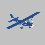 Small plane vector illustration. Single engine propelled passenger aircraft. Light aircraft.  Vector illustration. Small plane vector illustration. Single engine Stock Images