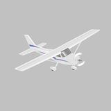Small plane vector illustration. Single engine propelled passenger aircraft. Light aircraft.  Vector illustration. Small plane vector illustration. Single engine Royalty Free Stock Image