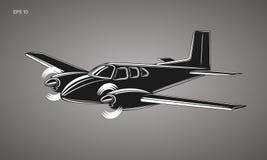 Small plane vector illustration. Twin engine propelled passenger aircraft. Small plane vector illustration. Twin engine propelled aircraft. Vector illustration Stock Photos