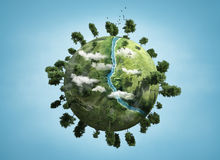 Small planet stock illustration