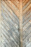 Small planks mounted on wall Royalty Free Stock Photography