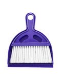 Small plastic broom isolated on white background Stock Photo