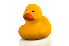 Small plastic duck for bathroom Stock Photography
