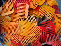 Small Plastic Rakes, Athens Royalty Free Stock Images