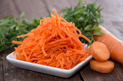Small Plate with Carrot Salad Royalty Free Stock Photo