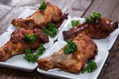 Small plate with Chicken Wings Royalty Free Stock Image