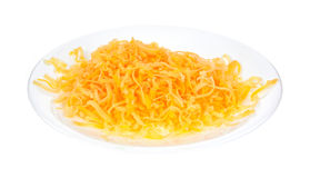 Shredded sharp cheddar cheese Stock Photos