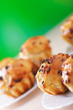Small plates of muffins Stock Images