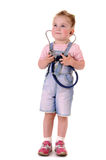 Small playful doctor royalty free stock photo