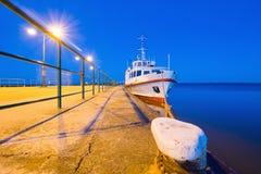 Small pleasure boat. Baltic Sea Royalty Free Stock Photography