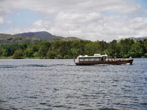 Small pleasure boat on Lake Windermere Stock Photo