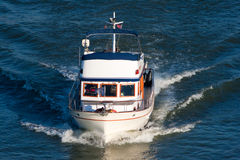 Small pleasure yacht Royalty Free Stock Image