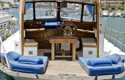 Small pleasure yacht in marina of Eilat, Israel Royalty Free Stock Photo
