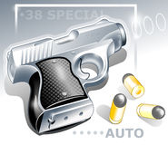 Small pocket gun vector illustration