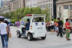 Small police car Royalty Free Stock Photos