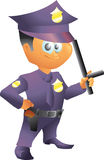Small police officer Royalty Free Stock Photography