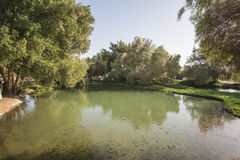 Small pond in a countryside park Stock Photography