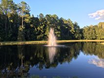Small pond and geyser Stock Photos