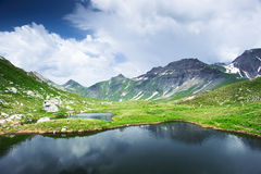 Small pond at Greina valley Royalty Free Stock Photography