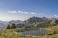 Cattle trough at Malga Campo Royalty Free Stock Photography