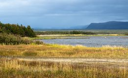 Free Small Pond Near Western Brook Newfoundland Canada On A Dark Stormy Autumn Day Stock Photography - 132895692