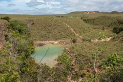 Small pond in a remote location. In gran sabana venezuela Royalty Free Stock Photo