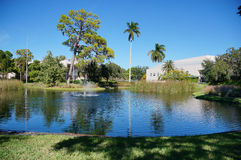 A small pond in the ringling circus museum at sarasota, florida Stock Photography