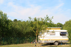 Small pop-top caravan  Stock Photography