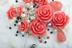 Small porcelain roses Royalty Free Stock Photos