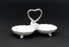 Small porcelain tray Stock Photo