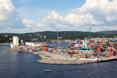Small port. Royalty Free Stock Images
