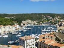The town of Bonifacio royalty free stock images