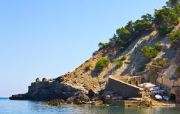 Small Port in the Cliff Royalty Free Stock Photos