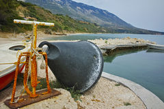 Small port on the coastline of Kefalonia,  Greece Stock Images