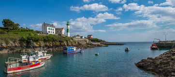 Small port Doelan near Clohars-Carnoet in brittany Royalty Free Stock Images