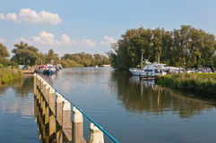 Small port in the Dutch National Park De Biesbosch Stock Photos