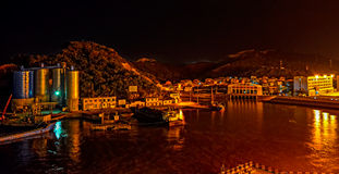 Small port on an island in China Royalty Free Stock Photos