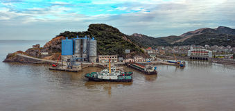 Small port on an island in China Royalty Free Stock Photo