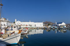 Small port in Naoussa village, Paros island, Cyclades, Greece Stock Image