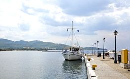 Small port in Neos Marmaras village, Greece Royalty Free Stock Photography