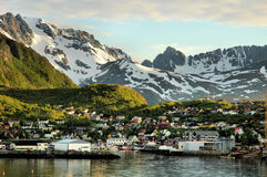 Small port in a Norwegian fjord Royalty Free Stock Images