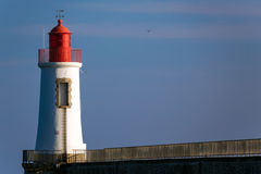 Small port pier lighthouse Stock Photography