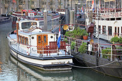 Small port in Rotterdam, Netherlands Stock Photo