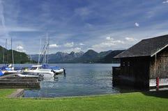 Small Port in Sankt Gilgen Stock Photos