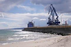 Small port terminal Balchik, Bulgaria Royalty Free Stock Images